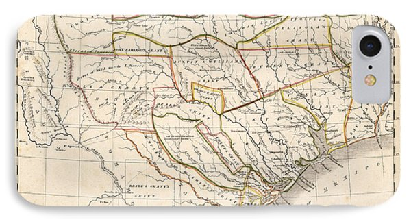 1835 Texas Map IPhone Case