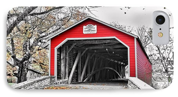 IPhone Case featuring the photograph 1839 Kreidersville Bridge by DJ Florek