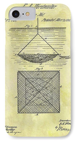 1869 Fishing Net Patent IPhone Case