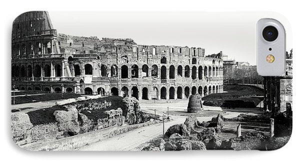 IPhone Case featuring the photograph 1870 The Colosseum Of Rome Italy by Historic Image