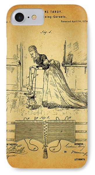 1874 Baby Exercising Corset IPhone Case by Dan Sproul