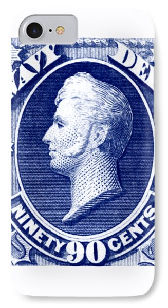 IPhone Case featuring the painting 1875 Commodore Perry Us Navy Department Stamp by Historic Image