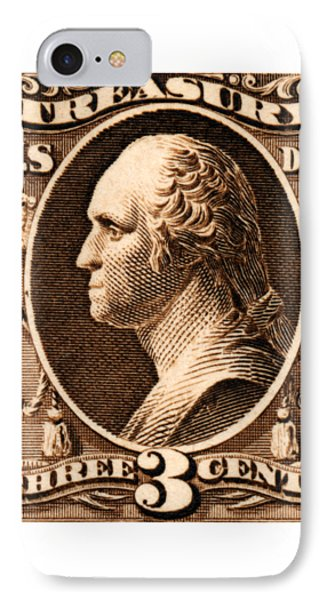 IPhone Case featuring the painting 1875 George Washington Treasury Department Stamp by Historic Image