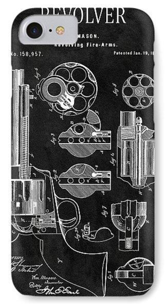 1875 Revolver Gun Patent IPhone Case