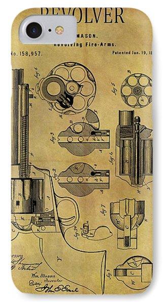 1875 Revolver Patent IPhone Case