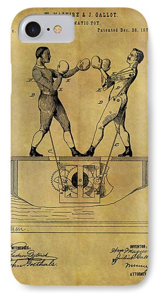 1876 Boxing Toy Patent IPhone Case by Dan Sproul