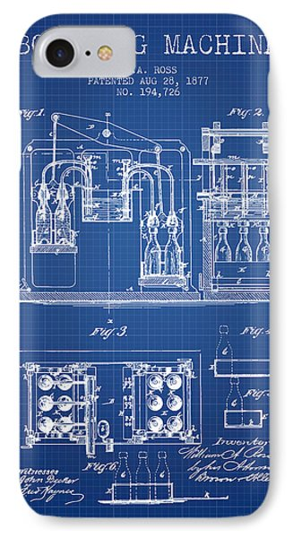 1877 Bottling Machine Patent - Blueprint IPhone Case by Aged Pixel