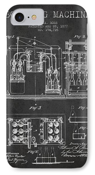 1877 Bottling Machine Patent - Charcoal IPhone Case by Aged Pixel