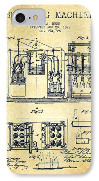 1877 Bottling Machine Patent - Vintage IPhone Case by Aged Pixel