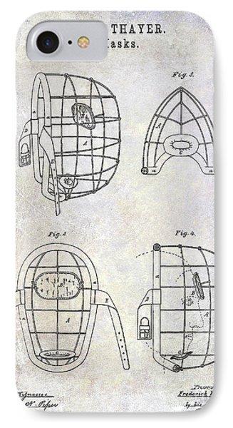 1878 Catchers Mask Patent IPhone Case by Jon Neidert