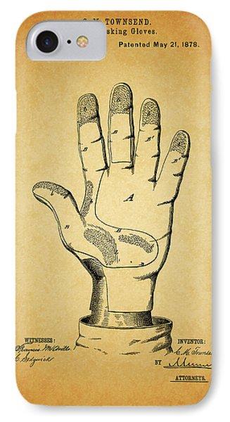 1878 Corn Husking Glove Patent IPhone Case