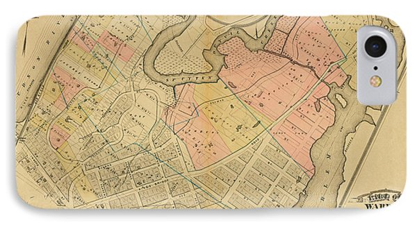 1879 Inwood Map  IPhone Case