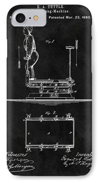 1880 Exercise Apparatus Patent Illustration IPhone Case by Dan Sproul