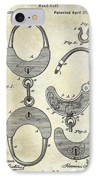 1880 Handcuff Patent IPhone Case by Jon Neidert
