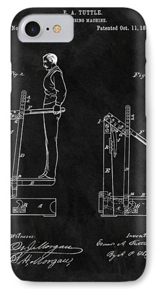 1881 Exercise Machine Illustration IPhone Case by Dan Sproul