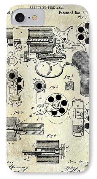 1881 Revolver Patent  IPhone Case