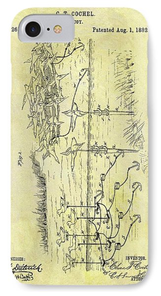 1882 Hunting Decoy Patent IPhone Case by Dan Sproul
