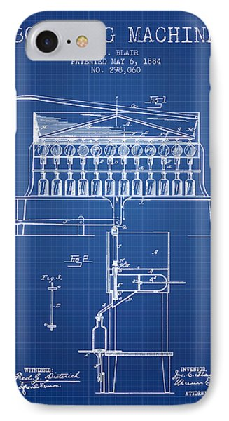 1884 Bottling Machine Patent - Blueprint IPhone Case by Aged Pixel