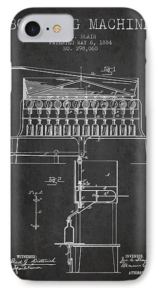 1884 Bottling Machine Patent - Charcoal IPhone Case by Aged Pixel