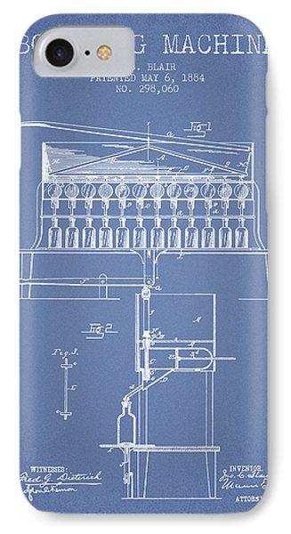 1884 Bottling Machine Patent - Light Blue IPhone Case