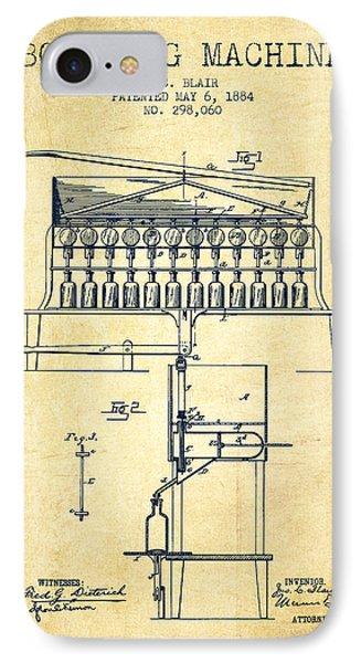 1884 Bottling Machine Patent - Vintage IPhone Case