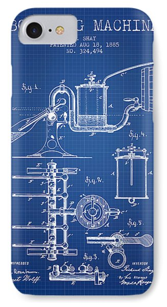 1885 Bottling Machine Patent - Blueprint IPhone Case