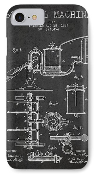 1885 Bottling Machine Patent - Charcoal IPhone Case by Aged Pixel