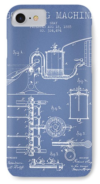 1885 Bottling Machine Patent - Light Blue IPhone Case by Aged Pixel
