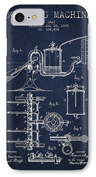 1885 Bottling Machine Patent - Navy Blue IPhone Case by Aged Pixel