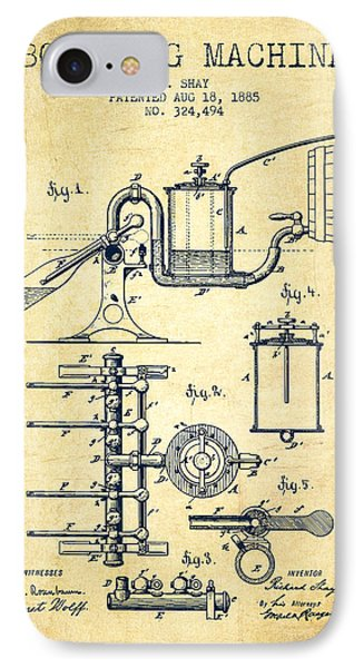 1885 Bottling Machine Patent - Vintage IPhone Case by Aged Pixel