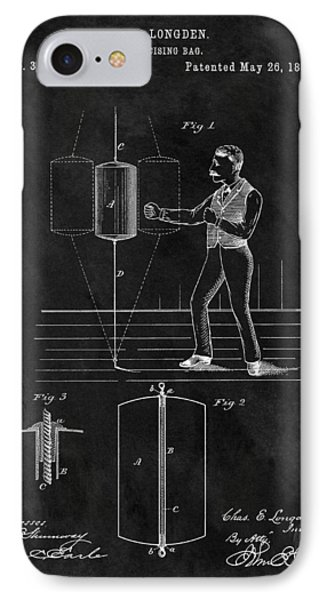 1885 Boxing Bag Patent IPhone Case by Dan Sproul