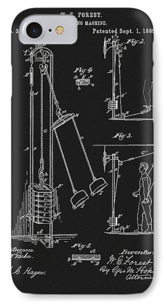1885 Exercise Apparatus IPhone Case by Dan Sproul