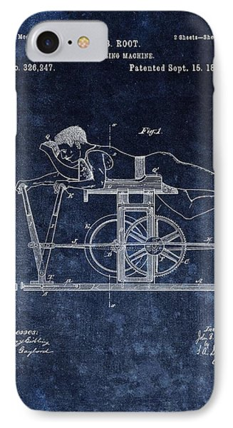 1885 Exercise Machine Patent IPhone Case by Dan Sproul