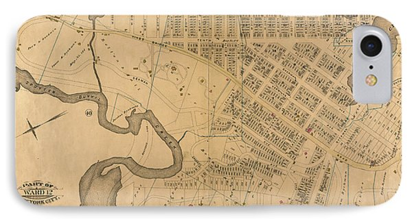 IPhone Case featuring the photograph 1885 Inwood Map  by Cole Thompson