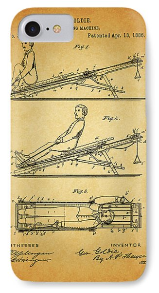 1886 Exercising Machine Patent IPhone Case by Dan Sproul