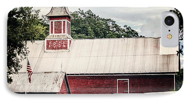 1886 Red Barn Phone Case by Lisa Russo