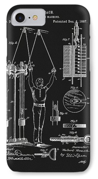 1887 Exercise Apparatus Patent IPhone Case by Dan Sproul