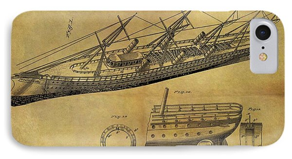 1887 Ship Patent IPhone Case by Dan Sproul