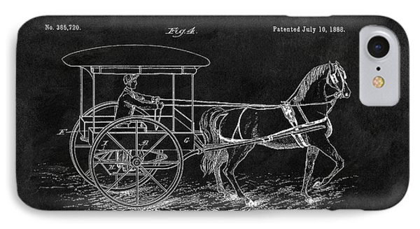 1888 Horse Drawn Carriage IPhone Case by Dan Sproul