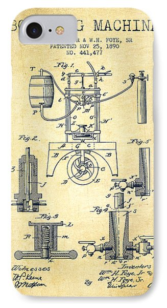 1890 Bottling Machine Patent - Vintage IPhone Case