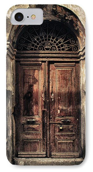 1891 Door Cyprus IPhone Case by Stelios Kleanthous