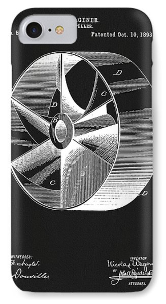 1893 Boat Propeller Patent IPhone Case by Dan Sproul