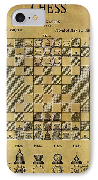 1893 Chess Game Patent IPhone Case by Dan Sproul