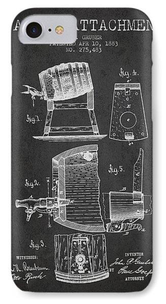 1893 Faucet Attachment Patent - Charcoal IPhone Case