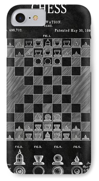 1893 Strategy Game Chess Patent IPhone Case by Dan Sproul