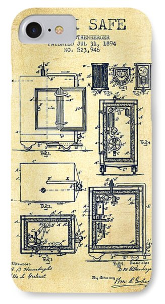 1894 Bank Safe Patent - Vintage IPhone Case by Aged Pixel