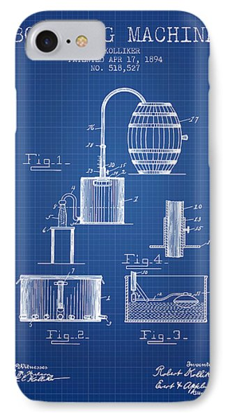 1894 Bottling Machine Patent - Blueprint IPhone Case by Aged Pixel