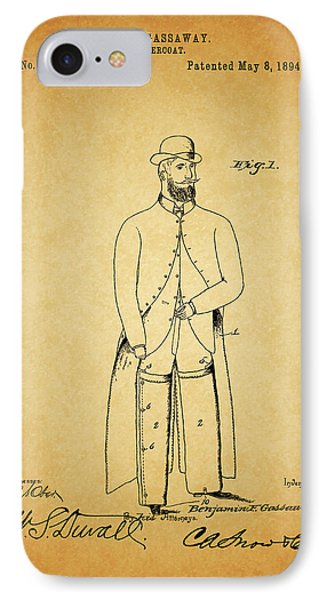 1894 Overcoat Patent IPhone Case by Dan Sproul