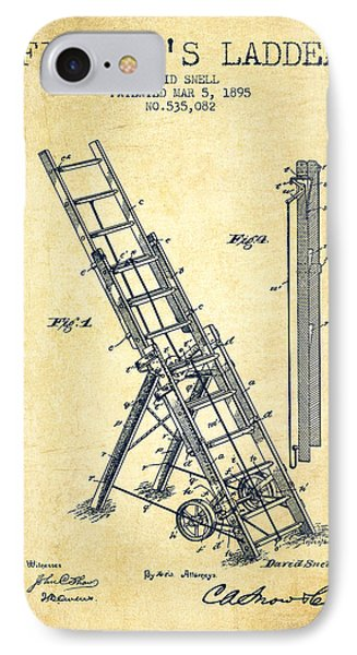 1895 Firemans Ladder Patent - Vintage IPhone Case by Aged Pixel
