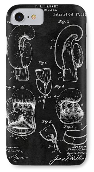 1896 Boxing Glove Patent Illustration IPhone Case by Dan Sproul